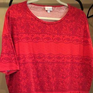 Red tunic LuLaRoe